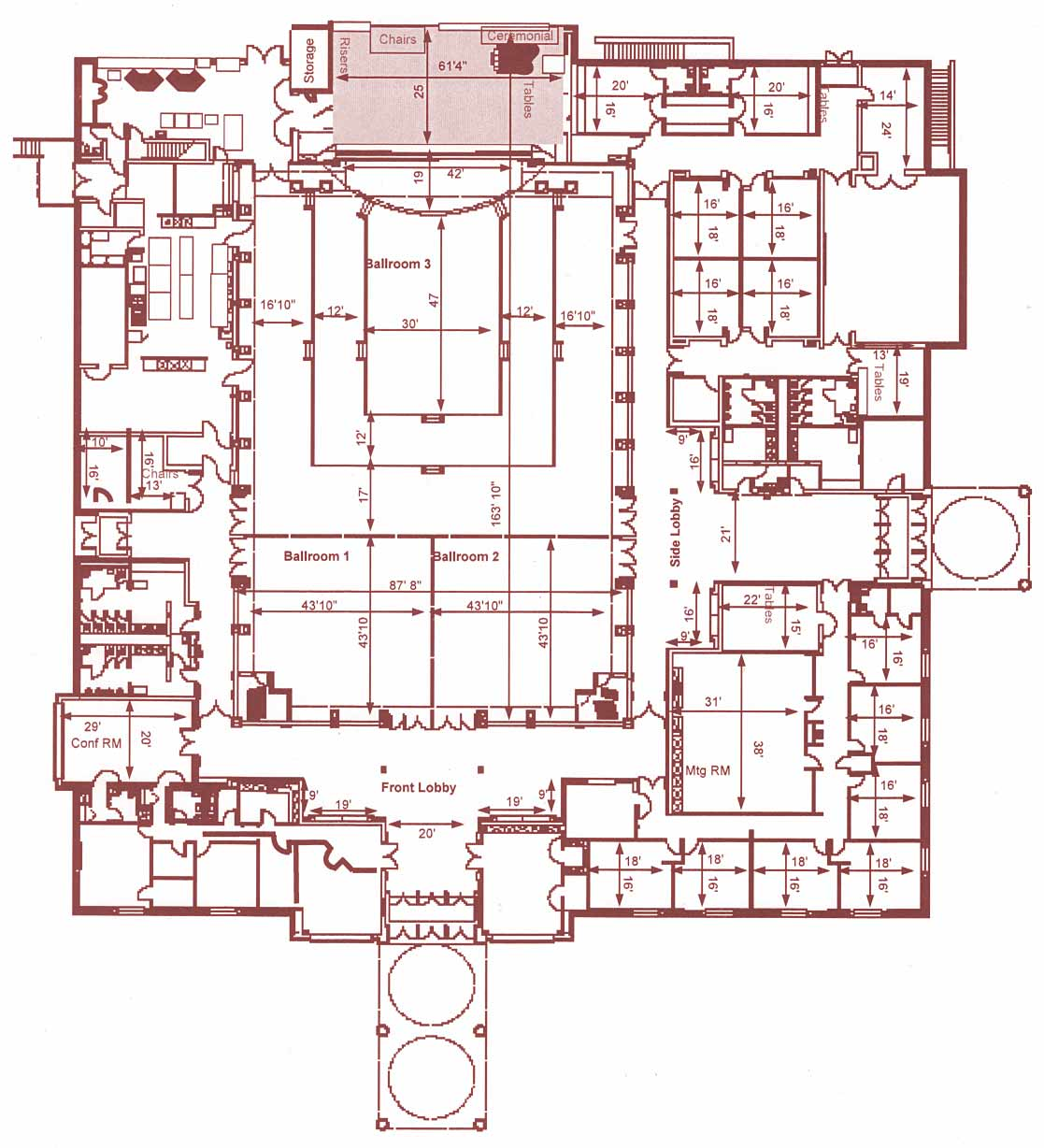 Pittsburgh Shrine Center facility blueprint