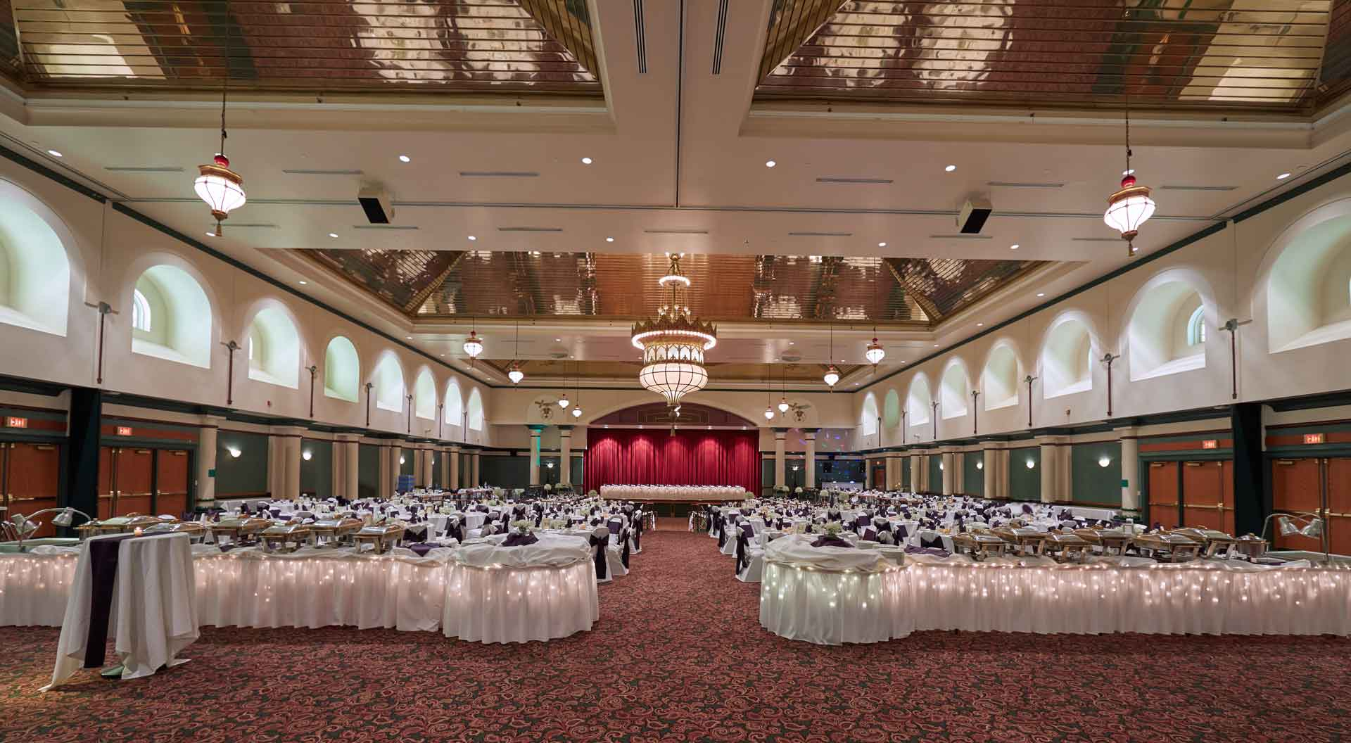 Pittsburgh Shrine Center wide view of the ballroom